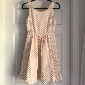 Anthropologie dress orange polka dots size O